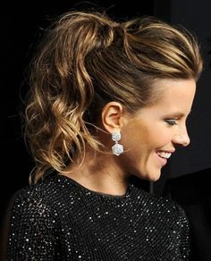 kate beckinsale ponytail hairstyle