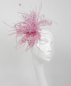 Imagine me going to work with this on my head. Fascinator Headband, Headpiece, Fascinators, Headdress, Perfect Pink, Pretty In Pink, Chanel Wedding, Prom Hair Accessories, Prom Flowers