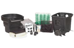 AquaScape MicroPond Kit - x The Aquascape MicroPond Kit includes everything you will need to build a pond except for the rock, plants and fish. Makes a pond by that contains 1000 gallons. MicroPond Kit - x IncludesSignature Seri Water Features For Sale, Pond Water Features, Water Feature Kits, Pond Kits, Building A Pond, Diy Pond, Tabletop Fountain, Ponds Backyard, Garden Pond