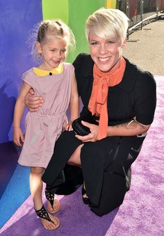 Pink Takes Daughter Willow Sage Hart to the Inside Out Premiere and They Look Identical!  Pink, Willow Sage Hart