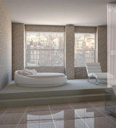 חדר שינה עם נוף מדהים של העיר מילאנו