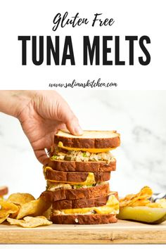 Today we are making one of my favorite self-isolation meals quarantine friendly tuna melts with a tangy tuna salad melted cheddar cheese and gluten free bread. Fish Recipes, Beef Recipes, Sandwich Recipes, Healthy Recipes, Gluten Free Snacks, Gluten Free Recipes, Sin Gluten, Love Food, A Food