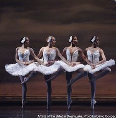 Artists of the Ballet in Swan Lake.