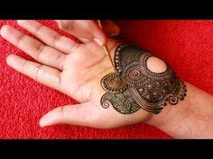 Easy Arabic/Arebik Henna Mehndi Tutorial Beginners | Beautiful Semi Bridal Front Hand Mehndi Designs - YouTube Very Simple Mehndi Designs, Mehndi Designs Front Hand, Henna Tattoo Designs Arm, Latest Arabic Mehndi Designs, Stylish Mehndi Designs, Mehndi Designs Book, Mehndi Design Photos, Wedding Mehndi Designs, Henna Designs Easy