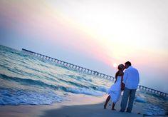 panama city beach sunset wedding