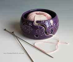 SO pretty :D - Yarn Bowl in Purple - Vogue Knitting LIVE NYC. $40.00, via Etsy.