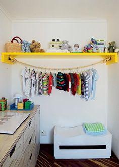 Singela, a ideia da arquiteta Letícia Arcangeli surgiu como alternativa de menor custo para acomodar roupas no quarto de bebê