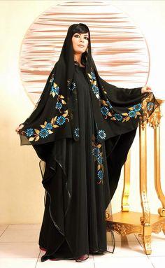 6611f78b463bf عرض ازياء عبايات سعودية احدث تصميمات موديلات 2013 عبايات خليجية ... Black  Abaya