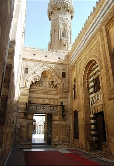 The main enterance to the Al Azhar Mosque in Cairo Egipto. Mosque Architecture, Classical Architecture, Historical Architecture, Amazing Architecture, Art And Architecture, Egypt Travel, Africa Travel, Places In Egypt, Modern Egypt