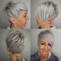 10 Edgy Pixie Haircuts for Women, Best Short Hairstyles 2019 Stylish Pixie Haircut, 2018 Best Short Hair Styles for Women Popular Short Hairstyles, Short Hairstyles For Women, Long Hairstyles, Short Asymmetrical Hairstyles, Latest Hairstyles, Elegant Hairstyles, Pretty Hairstyles, Wedding Hairstyles, Edgy Pixie Haircuts