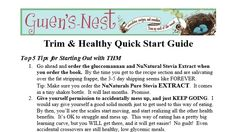 Quick Start Guide (pdf) for Trim Healthy Mama-
