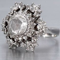 Vintage Rose cut Diamond Ring
