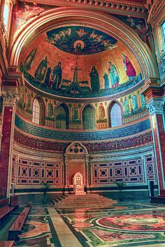 George Westermak Photograph - The Colorful Interior Of Roman Catholic…