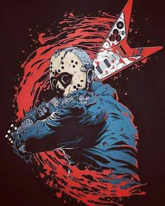 Jason Voorhees - Friday The 13th - horror - gore - metal - Flying V