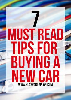 Seven of the best tips for buying a car whether it be new or used. First time buy a car? No problem, this checklist will walk you through how to buy a car from deciding how much money to spend to questions to ask yourself before you buy. And funny enough, Buy Car Insurance, Car Checklist, Car Buying Guide, Car Guide, Buy Used Cars, Car Purchase, Car Hacks, Car Shop, Car Cleaning