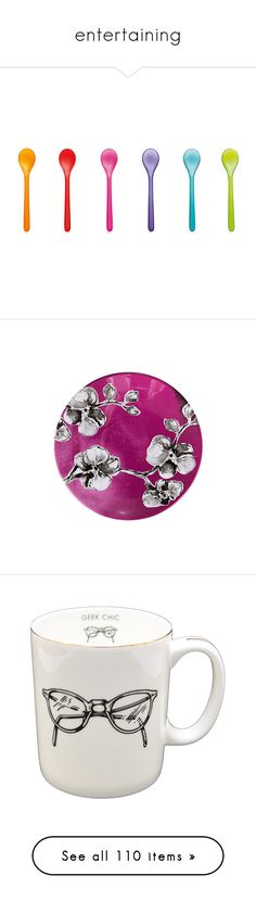 """""""entertaining"""" by pinkice ❤ liked on Polyvore featuring home, kitchen & dining, filler, koziol, dinnerware, set of 4 plates, set of 4 dessert plates, melamine dessert plates, melamine dinnerware and colored plates"""