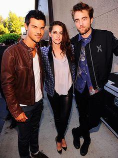 'TWI'-PLE THREAT photo | Kristen Stewart, Robert Pattinson, Taylor Lautner....................