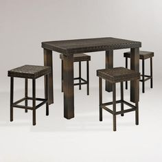 One of my favorite discoveries at WorldMarket.com: Pinamar Dining Set, 5-Piece