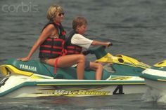 Princess Diana with Prince Harry, St. tropez, 1997