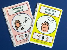 Getting a Haircut PECS Social Story with Sentence by TheAutismShop