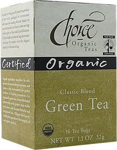 Choice Organic Classic Green Tea 11 Ounces 16Count Box Pack of 6 -- To view further for this item, visit the image link. Note: It's an affiliate link to Amazon.