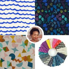 Fabric Designers – Names to Know – a roundup of our favorite textile designers – Cotton & Flax Textile Design, Fabric Design, Pattern Design, Surface Pattern, Beautiful Patterns, Design Inspiration, Textiles, Kids Rugs, Graphic Design