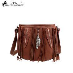 486a40f50991c Montana West Fringe Collection Messenger Bag