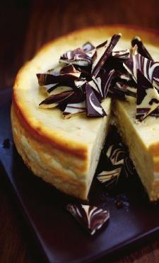 Cheesecake met witte chocolade en Baileys