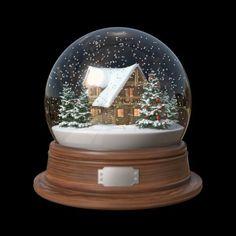 snow globes | snow globe house 3d fbx Christmas Snow Globes, Christmas Mood, Merry Christmas, Xmas, Christmas Tattoo, Christmas Drawing, Decorative Spheres, Musical Snow Globes, I Love Snow
