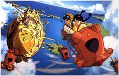 Hayao Miyazaki's Castle in the Sky was the first feature under the Studio Ghibli banner, and in the wake of latter era classics like Princess Mononoke, Manga Anime, Sky Anime, Anime Art, Hayao Miyazaki, Totoro, Castle In The Sky, Shiro, Studio Ghibli Collection, Studio Ghibli Films