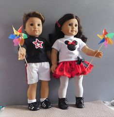 Fits American Girl and Boy doll Logan or similar dolls. Outfit will also fit the Bitty Baby Twins Mickey Mouse Outfit, Baby Mickey Mouse, Twin Girls, Twin Babies, Twin Outfits, Girl Outfits, Boy Doll, Girl Dolls, Mickey Mouse Silhouette