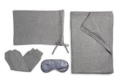 One Kings Lane - Soft Touch - Cashmere Travel Set, Gray Leather Accessories, Travel Accessories, What In My Bag, Travel Set, Bag Organization, Shades Of Grey, My Bags, Cashmere, Gray