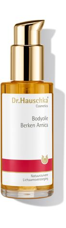 Dr Hauschka Bodyolie Berken Arnica 75 ml - Dr.Hauschka Bodyolie Berken Arnica verfrist met de aangename geur van munt en citroen en houdt het vocht van de huid vast, waardoor deze soepel en zacht wordt.