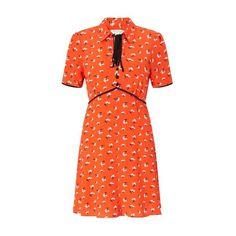 MIss Selfridge Printed Tea Dress