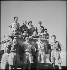 The New Zealand Patrol Group, probably T1 Patrol, of the Long Range Desert Group (LRDG) in Egypt, Nat Library of NZ