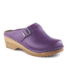 Love this Purple Raphael Leather Clog by Troentorp on #zulily! #zulilyfinds