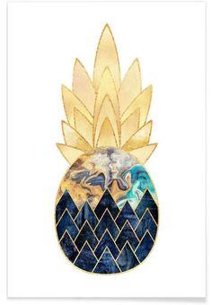 Precious Pineapple 1 als Premium Poster von Elisabeth Fredriksson | JUNIQE