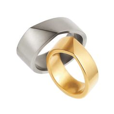 ORRO Contemporary Jewellery Glasgow - Angela Hubel - Gold Bond Wedding Rings - Yellow gold - Grey gold - 18ct Gold