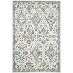 Found it at Joss & Main - Pollie Ivory/Light Blue Area Rug