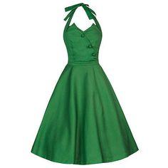 Swing Myrtle jurk groen - vintage, 50's, rockabilly, retro