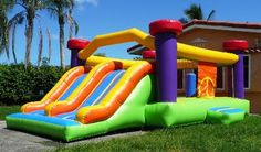 We sell bounce houses the have free shipping all over the USA http://www.bouncyhouse.net/