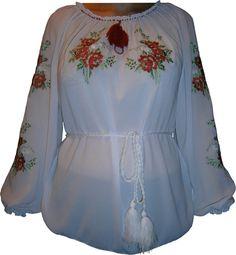 #вишиванка жіноча з квітами (Арт. 00378)