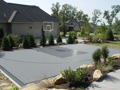 Backyard Sport Court Ideas this half court is a great space to practice shots it is particularly useful for Backyard Basketball Courts