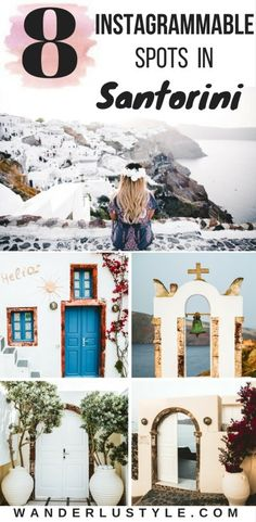Best Instagrammable Spots in Santorini - Santorini Travel Tips, Greece Travel Tips, Best Places Santorini | Wanderlustyle.com