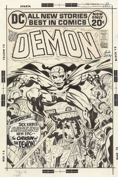 The Demon #1 (1972) - Art by Jack Kirby