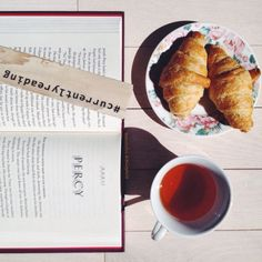 Words and tea (and croissant).