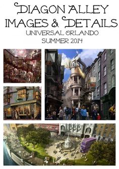 Diagon Alley Images and Details Wizarding World of Harry Potter at Universal Studios Inside scoop: http://classymommy.com/harry-potter-and-the-escape-from-gringotts-and-new-diagon-alley-images/