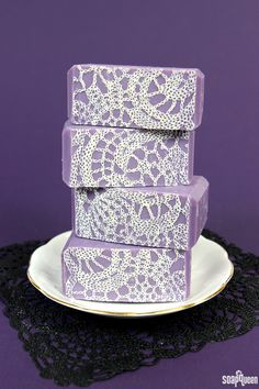 Jasmine Lace Cold Process Soap Tutorial on Soap Queen