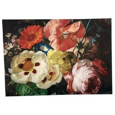 Baroque floral bouquet peonies and roses removable wallpaper Grey Floral Wallpaper, Dark Wallpaper, Flower Wallpaper, Peel And Stick Wallpaper, Temporary Wallpaper, Painting Wallpaper, Self Adhesive Wallpaper, Paint Cans, Floral Bouquets
