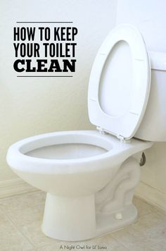 How to Keep Your Toilet Clean Longer - great deep cleaning method for your toilet { lilluna.com }